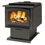 Napoleon Timberwolf Economizer 2300 Wood Heating Stove Black Lifestyle