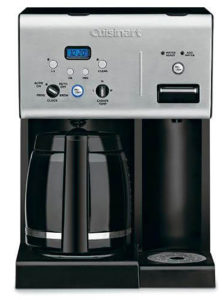 Cuisinart Coffee Plus Black 12 Cup Programmable Coffeemaker Plus Hot Water System - CHW12P1