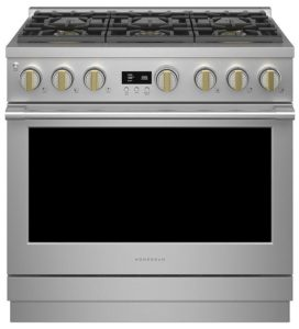 Monogram 36 Stainless Steel Natural Gas Professional Range With 6 Burners ZGP366NTSS