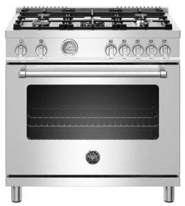 Bertazzoni Master Series 36 Stainless Steel Freestanding Gas Range MAST365GASXE