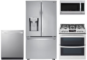 LG 24 Cu. Ft. French Door Refrigerator With Gas Range Package