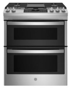 GE 30 Stainless Steel Slide-In Double Oven Convection Gas Range - JGSS86SPSS