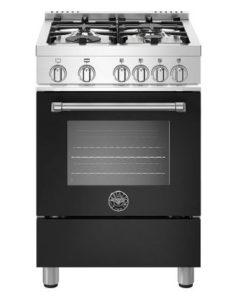 Bertazzoni 24 Master Series Matte Black Gas Range - MAST244GASNEE
