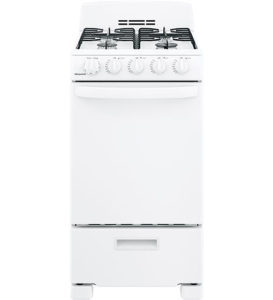 GE Hotpoint 20 White Front-Control Freestanding Gas Range With Sealed Burners - RGAS200DMWW