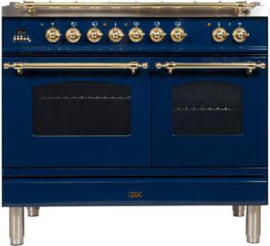 2. Ilve Nostalgie UPDN100FDMPBL Freestanding Dual Fuel Range Blue, UPDN100FDMPBL Dual Fuel Range