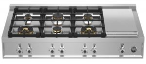 Bertazzoni 48 Professional Series Stainless Steel Gas Cooktop CB486G00X