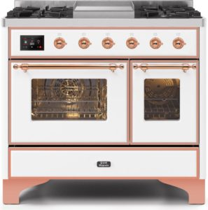 4. Ilve Majestic II UMD10FDNS3WHP Freestanding Dual Fuel Range White, UMD10FDNS3WHPNG-Front-CD-A