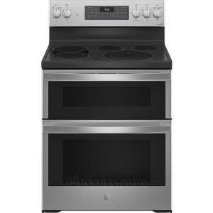 GE Profile 30 Smart Fingerprint Resistant Stainless Steel Double Oven Electric Range - PB965YPFS