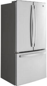 GE ENERGY STAR 18.6 Cu. Ft. Stainless Steel Counter-Depth French-Door Refrigerator - GWE19JSLSS
