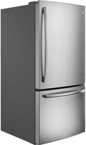 GE ENERGY STAR 24.8 Cu Ft Stainless Steel Bottom Freezer Refrigerator - GDE25ESKSS
