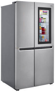 LG 27 Cu. Ft. Fingerprint Resistant Platinum Silver Side-By-Side Refrigerator With InstaView Door-In-Door - LRSES2706V
