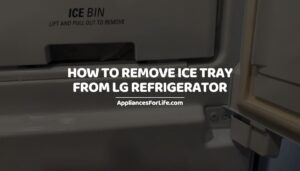 How to Remove Ice Tray from LG Refrigerator