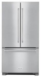 KitchenAid Stainless Steel Counter Depth French Door Refrigerator - KRFC302ESS