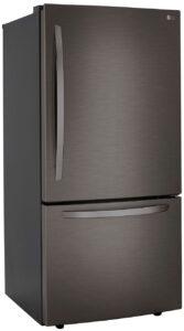 LG 26 Cu. Ft. PrintProof Black Stainless Steel Bottom Freezer Refrigerator - LRDCS2603D
