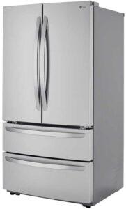 LG 27 Cu. Ft. PrintProof Stainless Steel 4-Door French Door Refrigerator - LMWS27626S