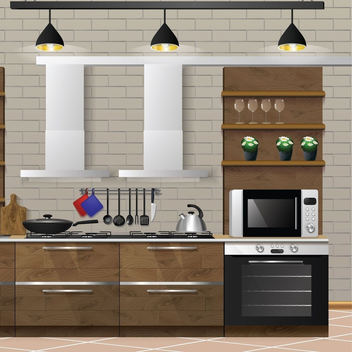 Integrate Your Appliances Into A Kitchen Island