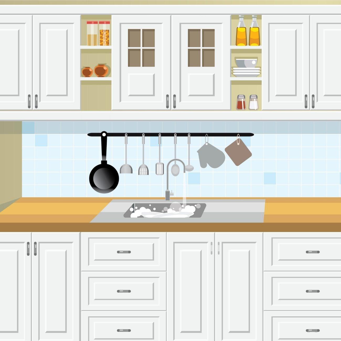 Hang A Metal Bar Over The Sink