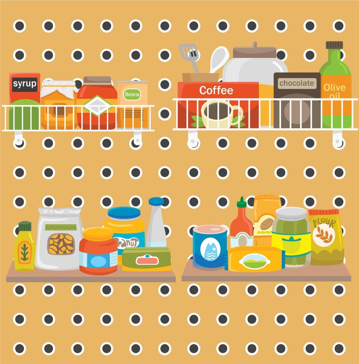 Make A Pantry Out of Your Pegboard