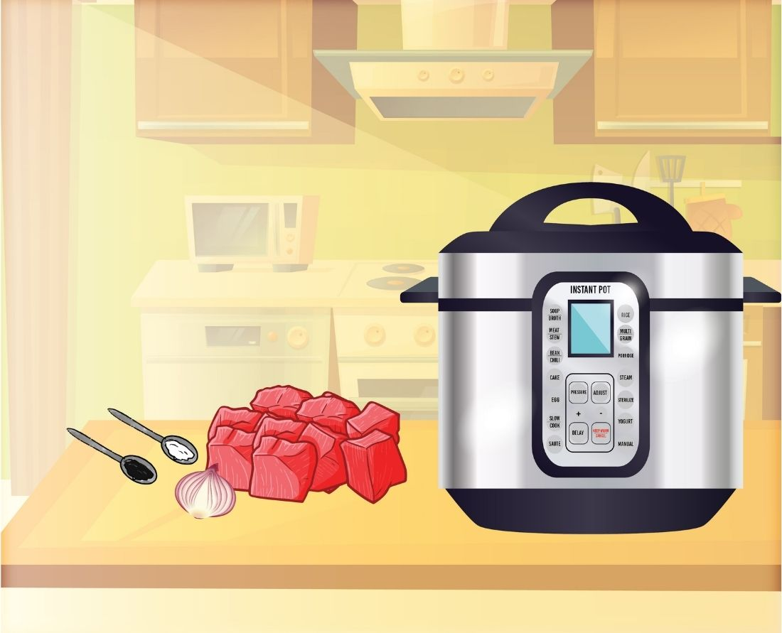 Fill up your Instant Pot pressure cooker with all your ingredients