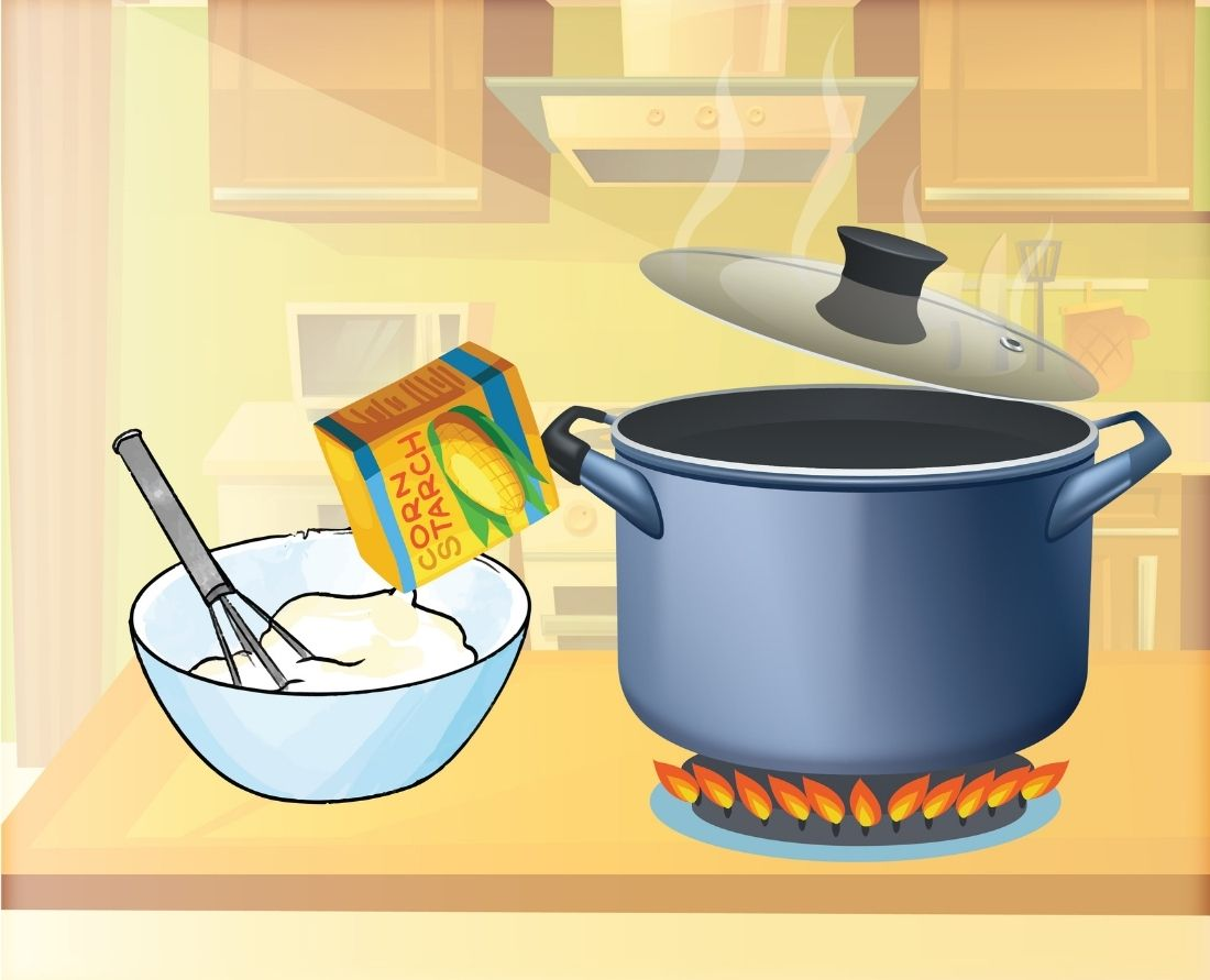 Over a medium-high heat, return your mixture to your cooker and boil
