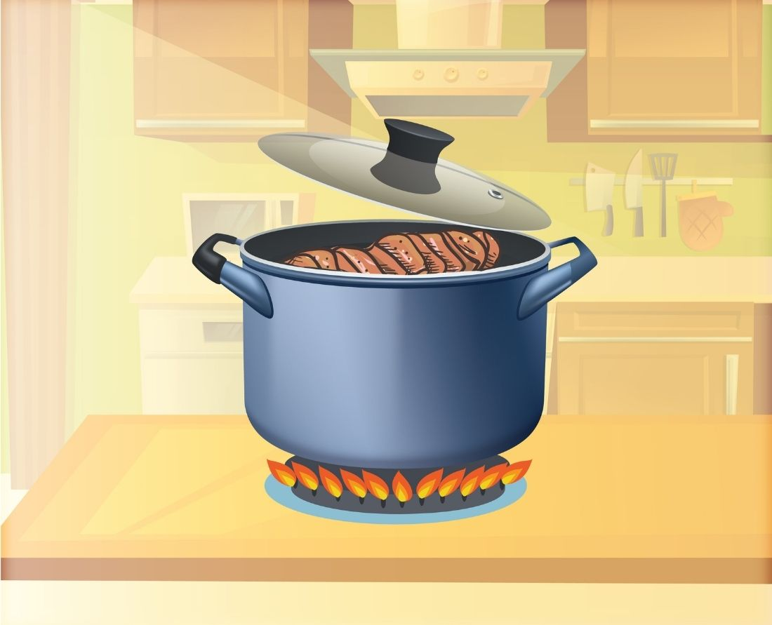 place your chopped ribs in the pressure cooker