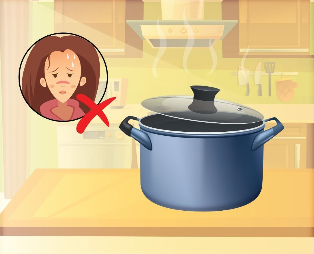 release any pressure left in the cooker